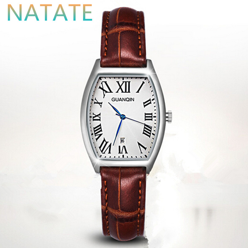 NATATE Women GUANQIN Luxury Brand Watch For Fashion WristWatch Waterproof Casual Quartz Leather Strap Lady Watches 0840<br><br>Aliexpress