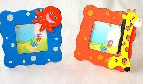Home Decorative Cartoon Photo Picture Display Frame New special children's Gift, wooden creative CN post(China (Mainland))