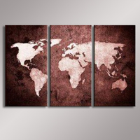 World Map painting Oil Painting  100% Hand Painted Modern Wall Art Painting ,Abstract  oil painting WM-003