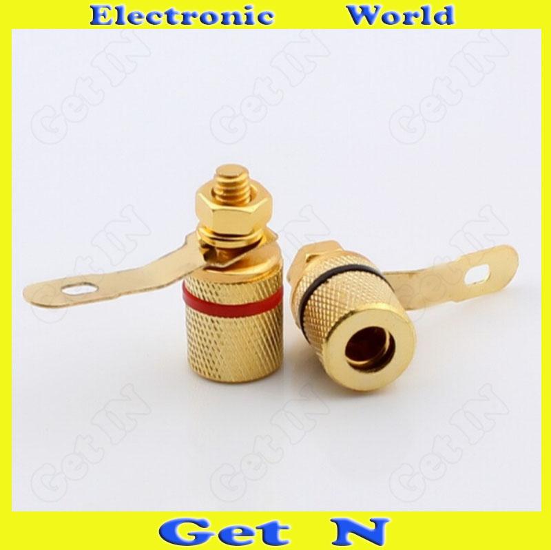 500pcs Banana Plug Socket Panel for Audio System Stereo Loudspeaker