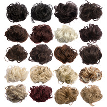 1PC 35g Synthetic Hair Scrunchie Bun Elastic Wavy Hair Bun Girls Plaited Chignon Bun For Women WQ541G02-134