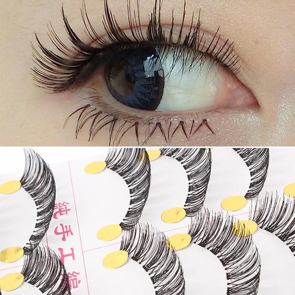 Hi-Q 10 Pairs Makeup Beauty False Eyelashes Fake Eye Lashes Human Hair Eye Lash