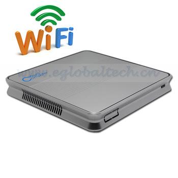 Wireless Mini PC Windows Intel Atom D2500 Dual Core Mini PC 4GB DDR3 1TB HDD for Printer Cloud Terminal HDMI HTPC DHL Free