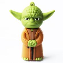 Bigsale star wars Master Yoda usb pendrive 4gb 8gb usb flash drives 16gb 32gb 64gb usb pendrives real capacity usb memory stick(China (Mainland))