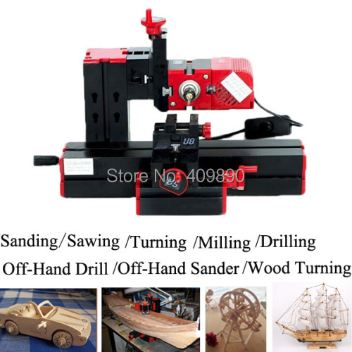 6 em 1 Multi Metal Mini torno de madeira motorizado Jig - saw Grinder Driller(China (Mainland))
