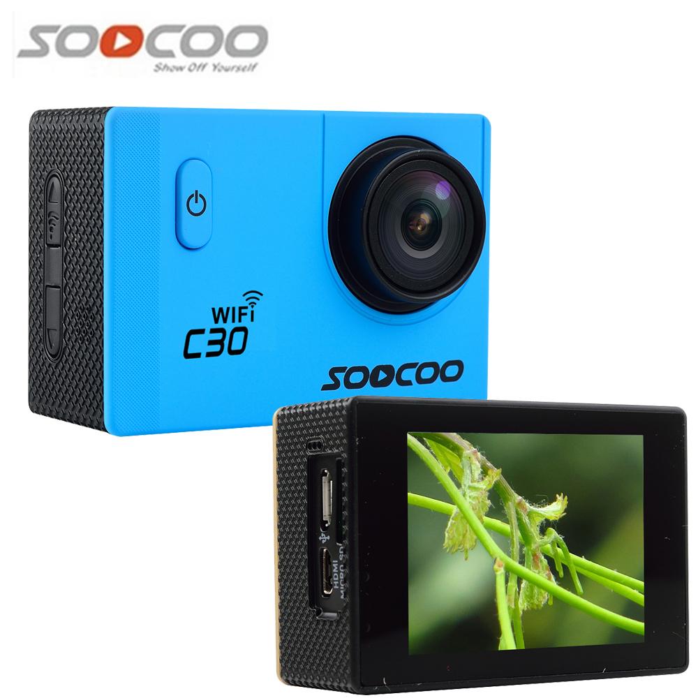 SOOCOO C30 Wifi 4K Gyro Action Sport Camera Adjustable Viewing angles(70-170 Degrees) 2.0 LCD Diving 30M Waterproof Camcorder(China (Mainland))