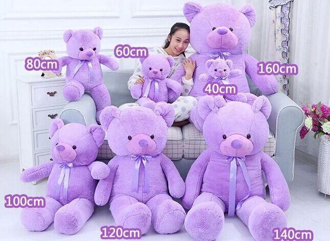 40cm stuffed Lavender bear giant stuffed teddy bear life size teddy bear plush toy doll