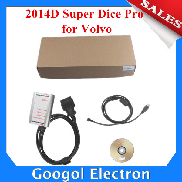 2014 New Product For Super Volvo Dice 2014D Pro (Silver Color) for Volvo Vida Dice Diagnostic Tool Fast Express Shipping(Hong Kong)