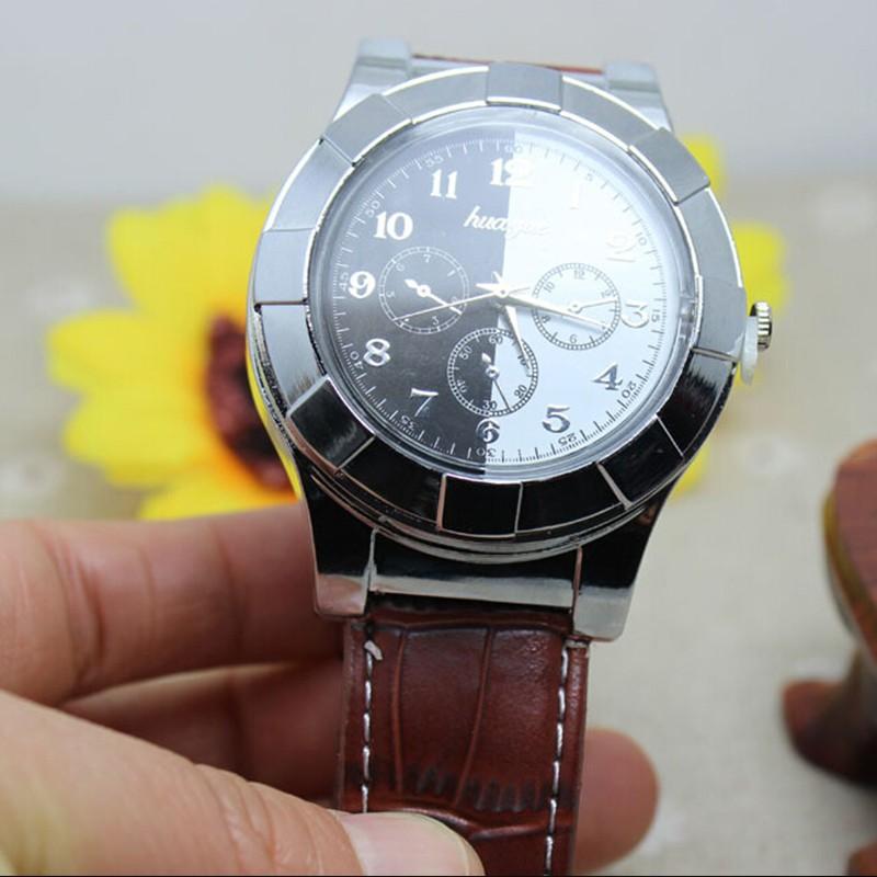 ถูก 1ชิ้น2016 W Indproofซิการ์USBเบาเบาดูชาร์จชาร์จกีฬาสบายๆควอตซ์นาฬิกานาฬิกาข้อมือusbเบาดูเบา