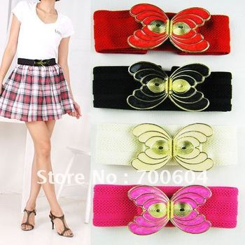 2013 fashion cotton belt,elastic bowknot waistband, women belts, PD-020