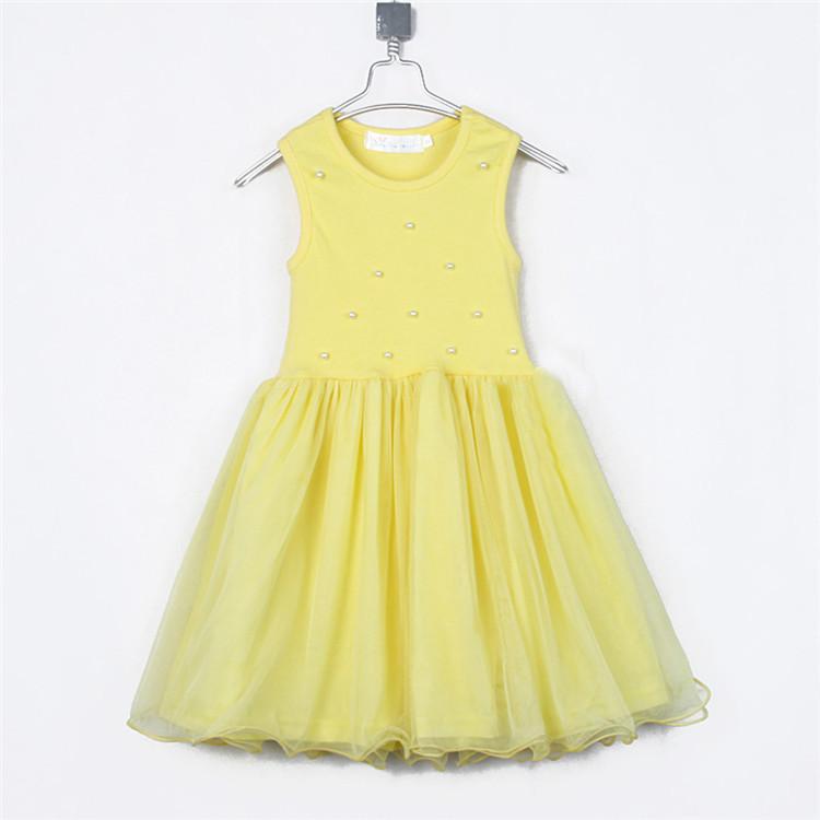 2015 summer girls clothing baby tank dress yarn A1100(China (Mainland))