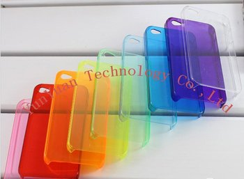 Whole -sales Soft Clear Case for iPhone 4  500PCS/LOT+Free shipping
