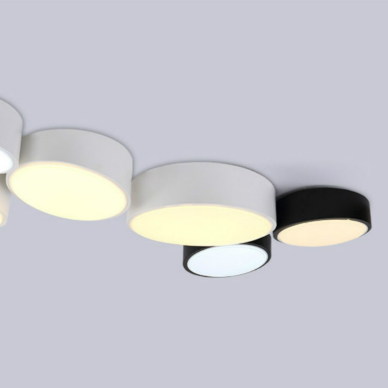 Round Geometric Combination Led Ceiling Light For Living Room Bedroom Aisle Modern DIY Iron Acryl Ceiling Lamp 25/40/50cm 1352(China (Mainland))