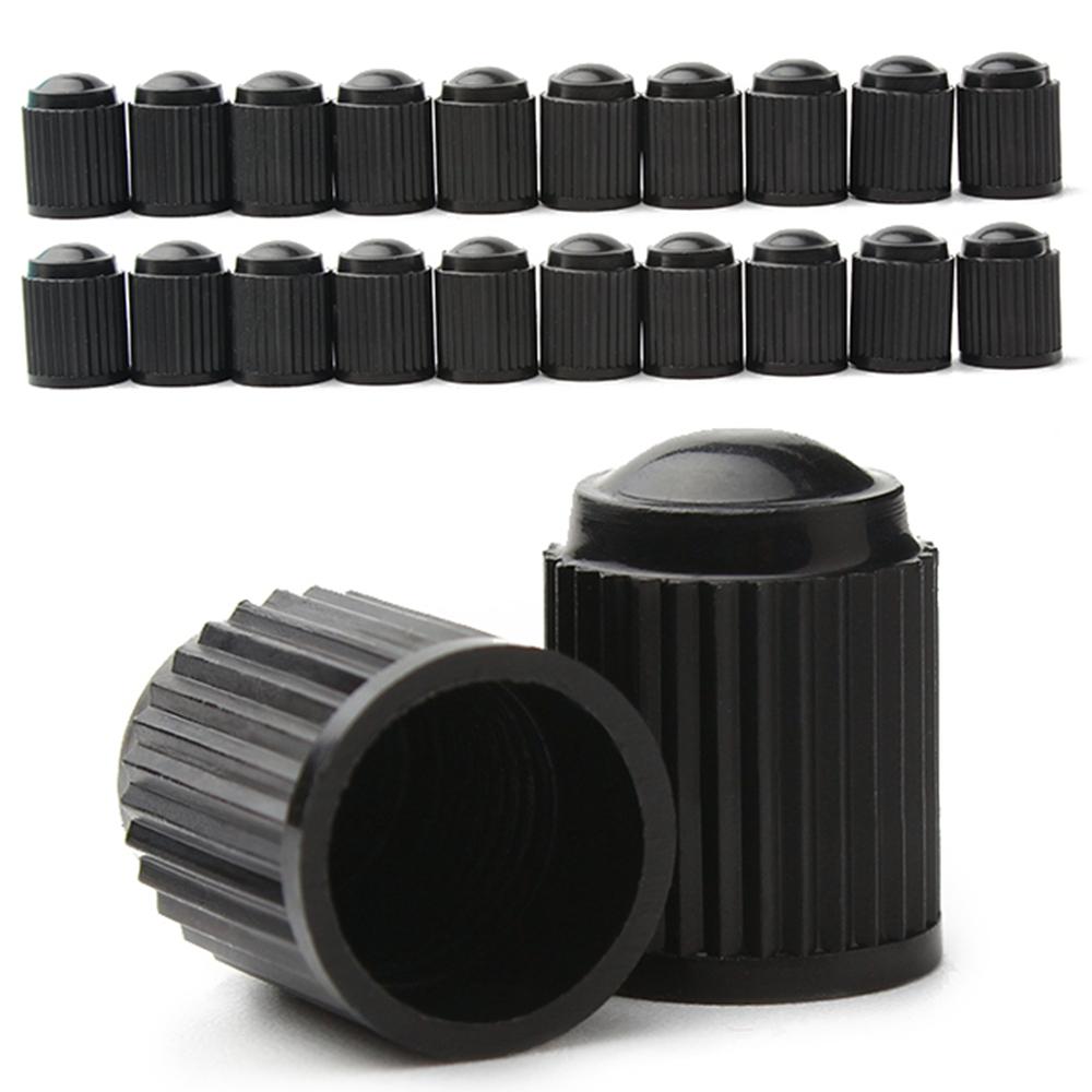 20 Pcs Black Plastic Dust Valve Caps Bike Car Wheel Tyre Air Valve Stem Caps Motorcycle Tyre Air Valve Caps Car Accessories(China (Mainland))