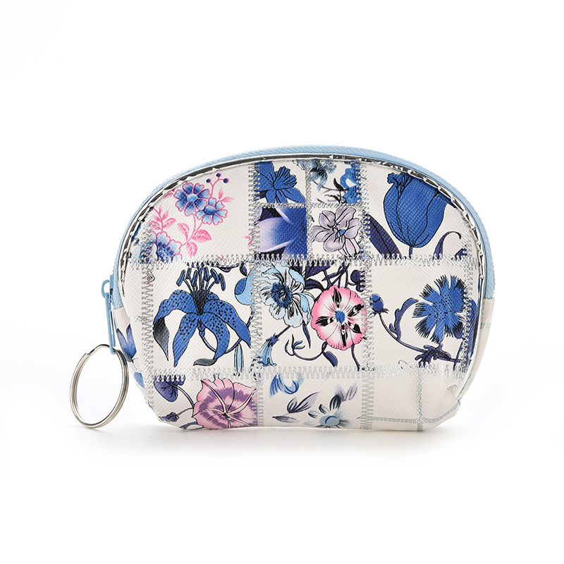 Chinese Style Printed Coin Purse Small Zipper Faux Leather Coin Wallet Chinoiserie Handbag For Women Girls(China (Mainland))