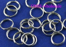 OMH wholesale 10mm 500pcs Jewelry accessories Finding DIY circle Nickel plating Plated Open Metal split Rings DY47(China (Mainland))