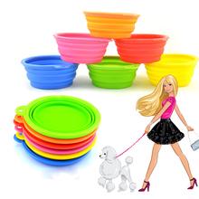 5 шт. чаши для собак кошек продукты портативный путешествия Dog чаша силиконовой складной закуски собака кормушка вода открытый питание