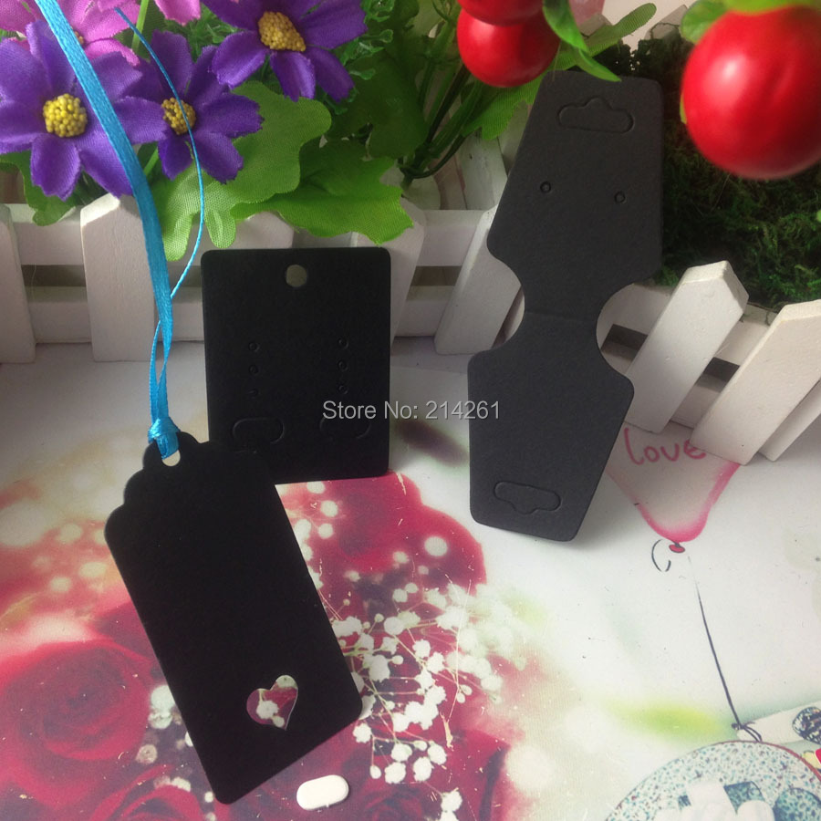 Hot Blank Black Diy Jewelry Display Set Card Necklace Card Earring Card Hang Tag Accept Custom Logo Cost Extra(China (Mainland))