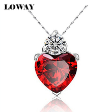 6 Colors Charms Zircon Heart love Women Pendant for jewelry making pendulum Platinum  Plated necklace accessories XL1502(China (Mainland))