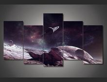 Framed Printed Universe Planet Painting on canvas room decoration print poster picture canvas Free shipping/ny-1585(China (Mainland))