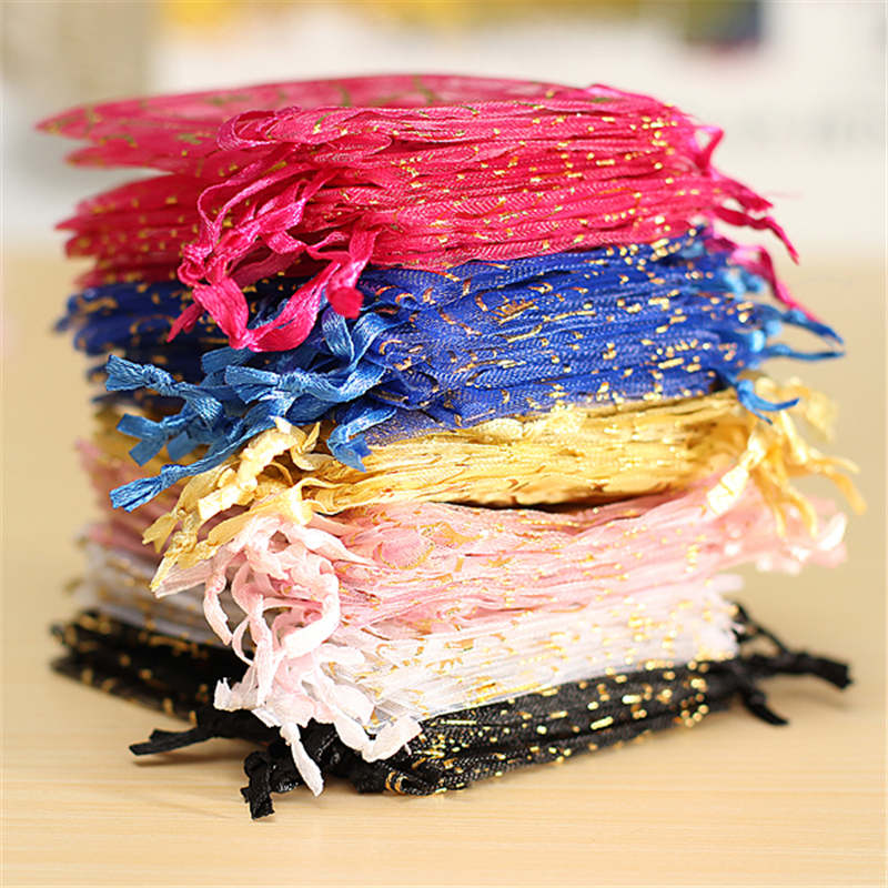 100pcs 7x9cm Organza Pouch Jewelry Gift Candy Bag Wedding Party Favor Decoration Make Your Gift More Fashion(China (Mainland))