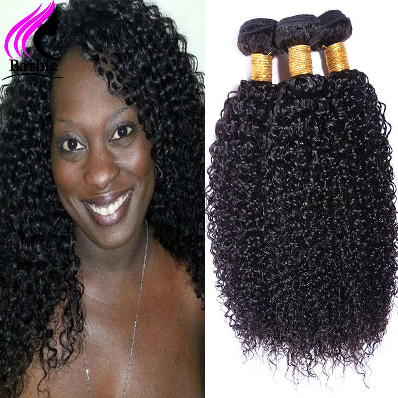 VIP Beauty Hair Products Brazilian Kinky Curly Virgin Hair Afro Kinky Curly Hair 3 Bundles Brazilian Curly Weave Human Hair