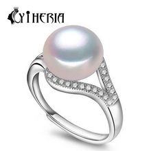 Buy Fashion pearl jewelry accessories, Natural Freshwater pearl ring women gift, 925 sterling silver ring, wedding rings, cc for $5.90 in AliExpress store