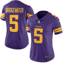 2016 Rush Limited Women's Minnesota Vikings Teddy Bridgewater Purple Color Top Quality(China (Mainland))