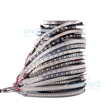 1m/4m/5m WS2812B Smart led pixel strip,Black/White PCB,30/60/144 leds/m WS2812 IC;WS2812B/M 30/60/144 pixels,IP30/IP65/IP67 DC5V(China (Mainland))