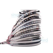 1m/4m/5m ws2812b smart led pixel streifen, schwarz/weiß pcb, 30/60/144 leds/m ws2812 ic; ws2812b/m 30/60/144 Pixel, IP30/ip65/ip67 dc5v(China (Mainland))