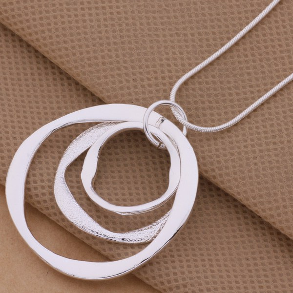 product Free shipping silver plated Necklaces & Pendants Fashion Silver Jewelry <font><b>Article</b></font> 3 the circular strip /bdcajuja ecnamtua AN200