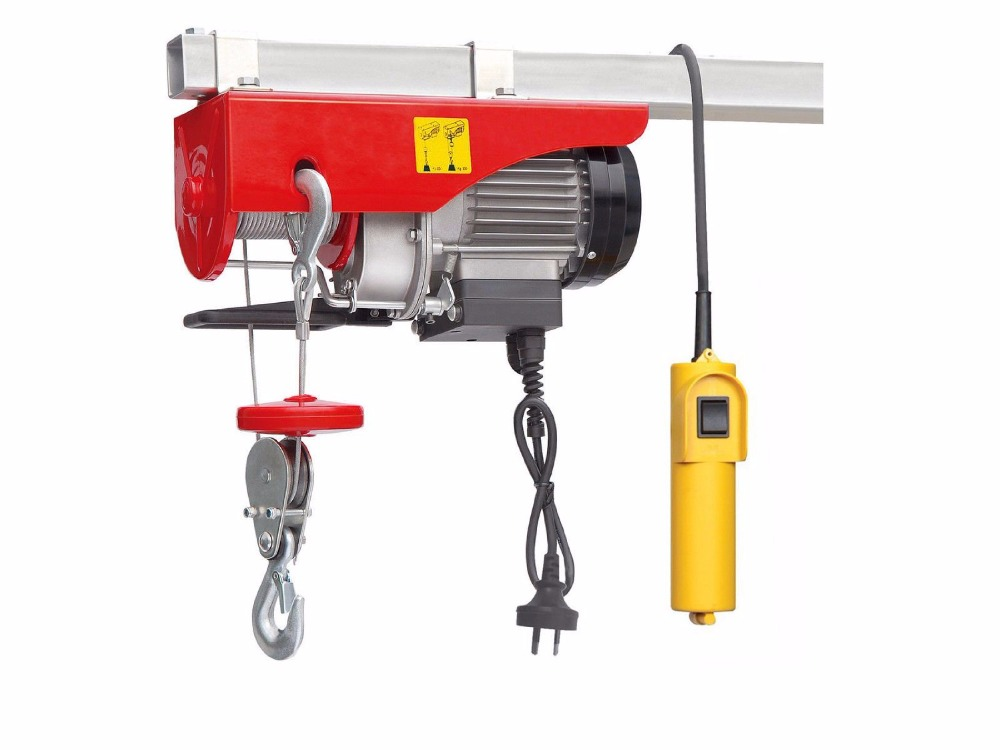 Rated Capacity 200kg Single Phase Mini Electric Hoist Winch With Upper and Lower Limit Switch 220V 50Hz(China (Mainland))