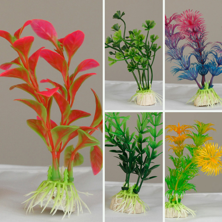 New Plastic Artificial Green Colorful Underwater Plant For
