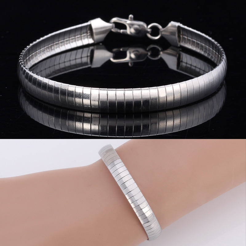 New Cool Choker Snake Bracelet Chain 316L Titanium Stainless Steel Never Fade For Women \ Men Jewelry 8MM 21CM 8Inches MGC GH212(China (Mainland))