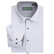 Brand New Plaid Mens Shirt Long Sleeve Dress Shirts Casual Business formal Shirt Camisa Hombre chemise homme masculina(China (Mainland))