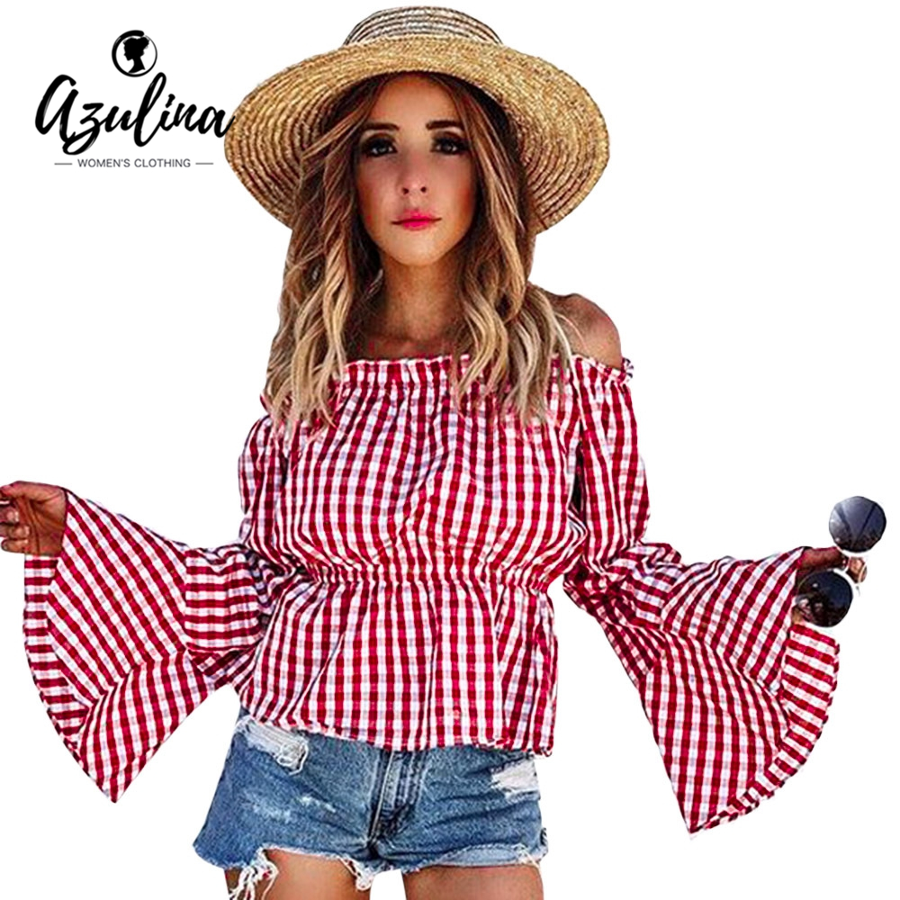 Online kopen wholesale boerenbont rood uit china for Pink gingham shirt ladies