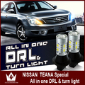 Night Lord For NissanTeana WY21W 7440 T20 winker blinker led DRL Front Turn Signals light All