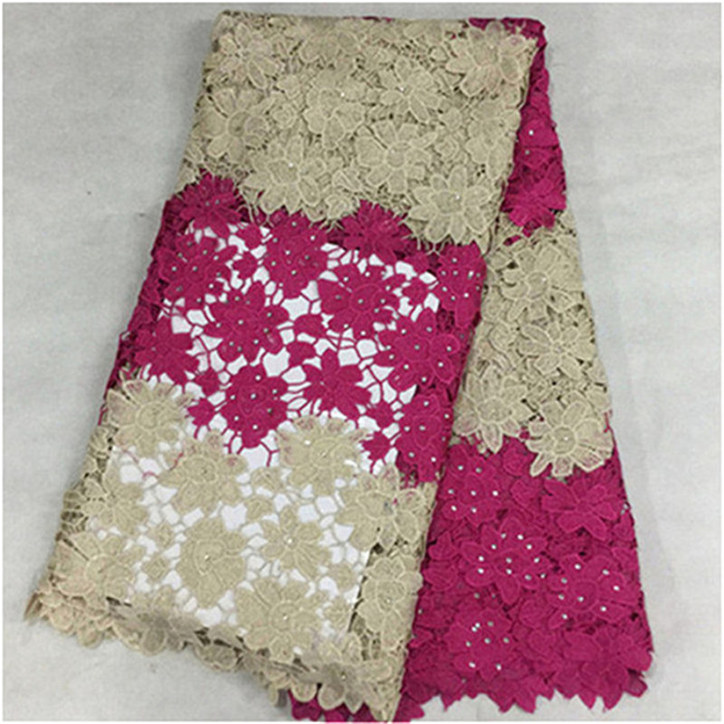 L-S5!Free Shipping African swiss voile lace high quality,african guipure lace fabric 5yards/lot 100% Cotton For  Dress