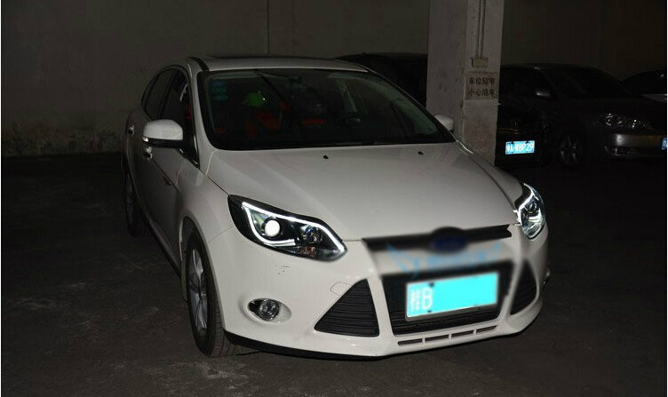 Auto Clud head lamps For ford focus 2012-2014 bi xenon lens LED Angel Eyes DRL H7 xenon headlights For Ford Focus car styling