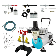 Airbrush Air Compressor Kit Commercial arts Paint on T-Shirt Temporary tatoos Cake Decorating 220V/50HZ(China (Mainland))