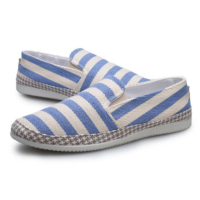 2015 новая мода высокого качества цветных полосок мужская обувь дышащая летом повседневная ...