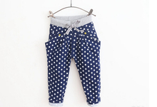6pcs/lot 2015 New Arrival Child Casula Harem Pants Boys Girls Dot-pattern Long Pants  Kids Cotton Trousers(China (Mainland))