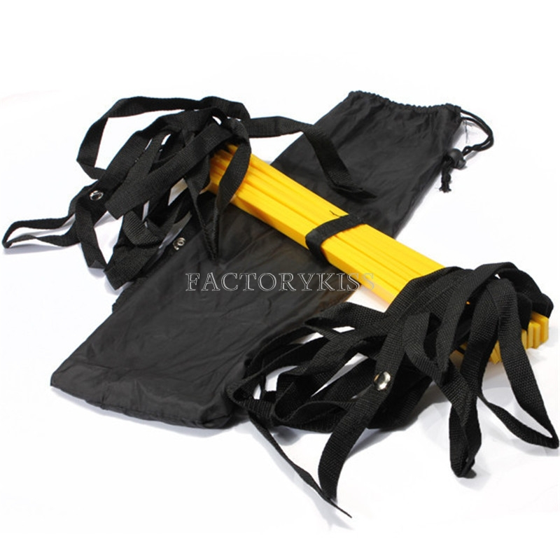 Training equipment 5M/16.5 feet *9 rungs long Soccer Training Speed Agility Ladder with Bag Outdoor Fitness Equipment ladder(China (Mainland))