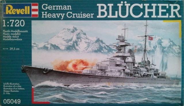 Revell Model Kit German Heavy Cruiser Blucher Revell 05049 1/720th scale<br><br>Aliexpress