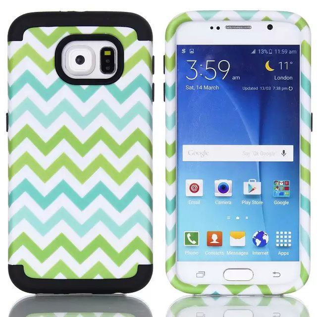 Slim Armor 3 in 1 Neo Hybrid Hard Cover Cases For Samsung galaxy s6 s 6 G920 Cellphone Original Pattern Capa Celular Accessories(China (Mainland))