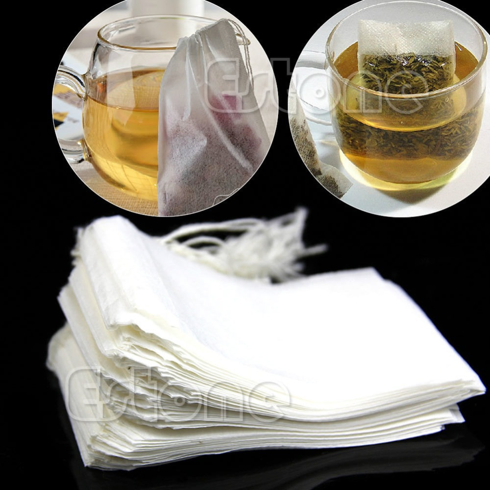 Free Shipping 50pcs/lot Empty Teabags String Heat Seal Filter Paper Herb Loose Tea Bags Teabag wholesale(China (Mainland))