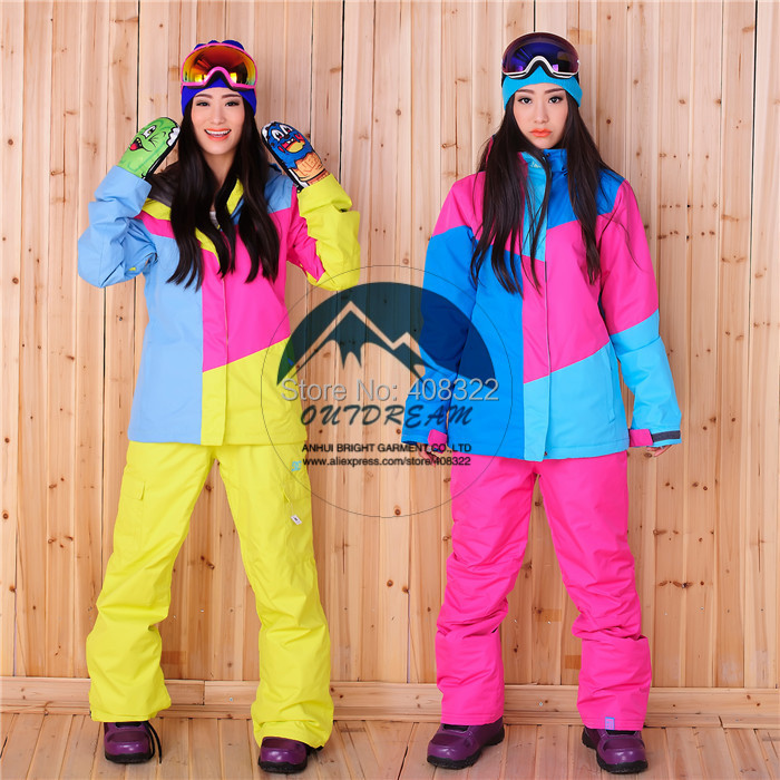 FREE SHIPPING,2014 DCWS-01 winter NEW ARRIVE women cotton warm trouser Snowboarding ski suit, different color,size +skiing set<br><br>Aliexpress