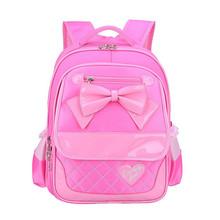 New Fashion School Backpacks Children School Bags High Quality Nylon PU Children Backpack Child Book Bag 2016 Free Shipping D341(China (Mainland))