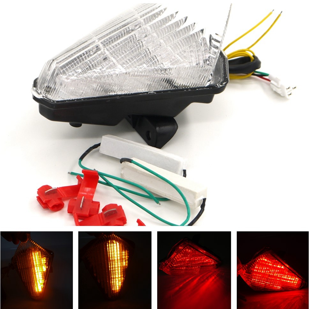 12V SMOKE Clear Motorcycle Tail Light LED Brake Turn Signals Integrated Taillight for YAMAHA YZF R1 YZFR1 2007 2008 07 08