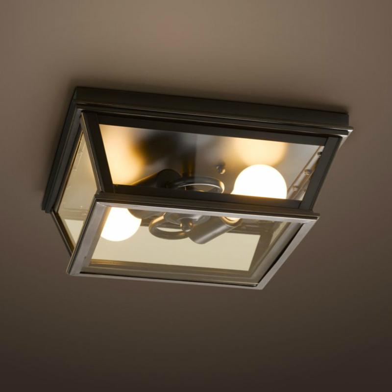 American rural vintage metal &amp; glass ceiling light<br>